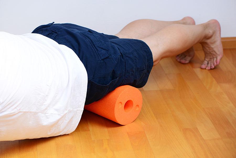 Faszienmassage Oberschenkelvorderseite