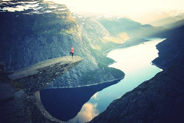 Yoga auf dem Berg